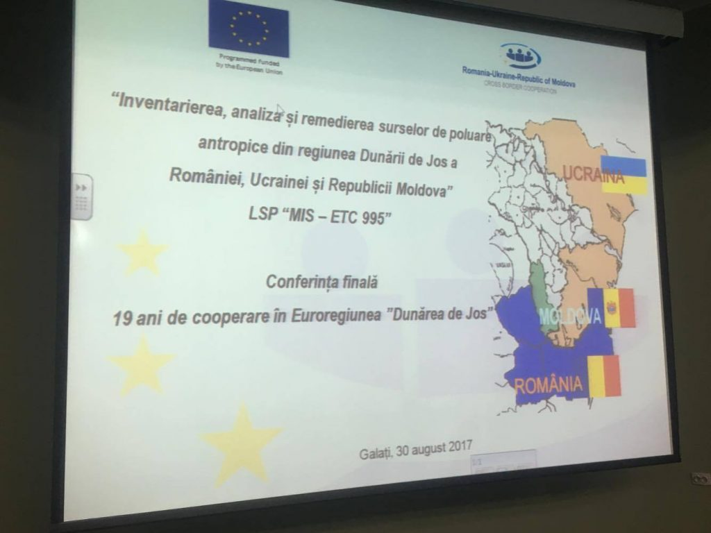 "International Final Conference on the project ""Inventory, Analysis and Remediation of Anthropogenic Pollution Sources in the Lower Danube Region of Romania, Ukraine and the Republic of Moldova"""