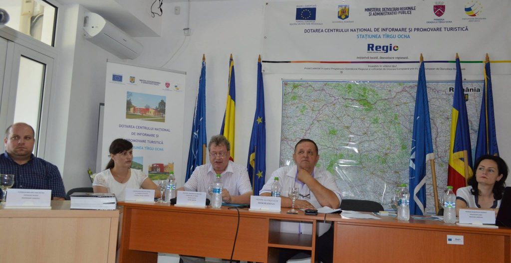 Ședință de lucru, Centrul de Informare Turistică Târgu Ocna, 28 iunie